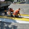 Покраска пешеходных переходов!