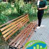Реставрация скамеек в сквере Победы