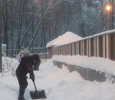 Вместе чистим снег 04.02.2017