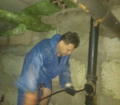 Прочистка гидравлической машиной КАО